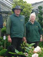 Lorraine and Richard Young, Downside Nurseries in Wiltshire